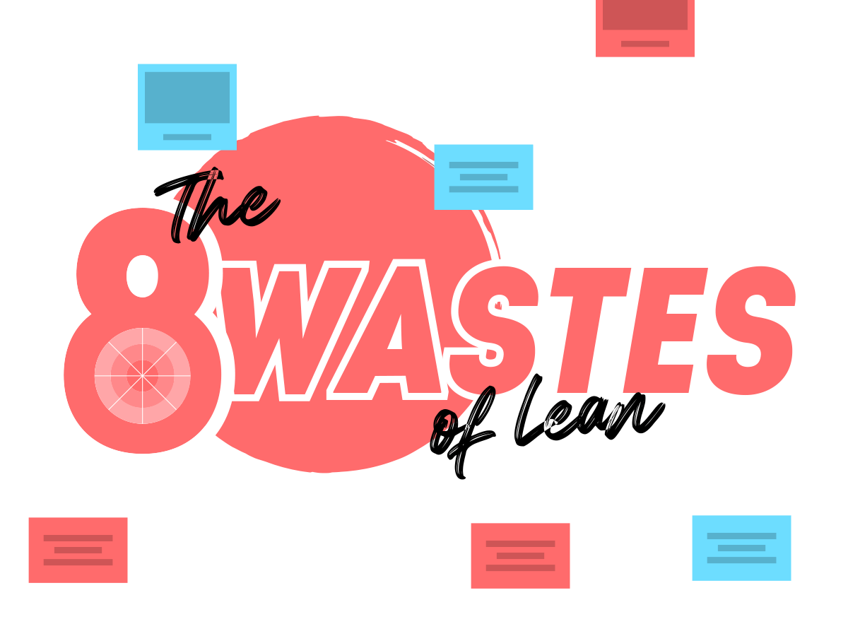 8 wastes of Lean Template