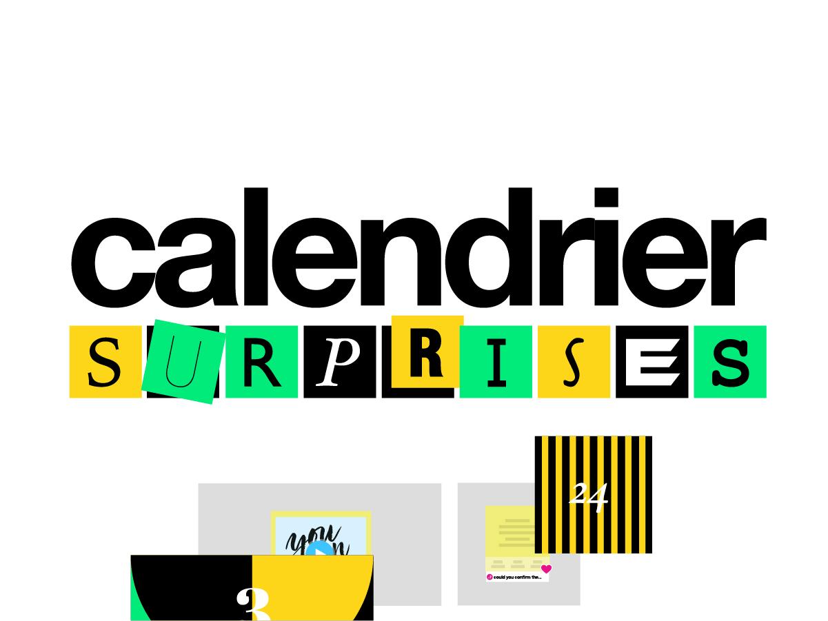 template calendrier de l'avent digital gratuit en ligne