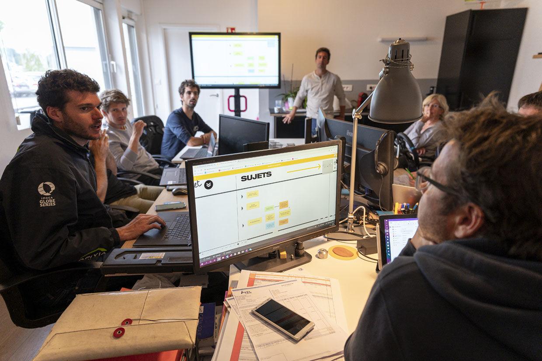 Réunion participative avec Klaxoon chez Mer concept