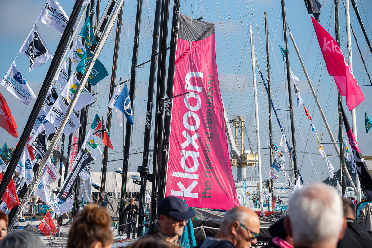 Le voilier Klaxoon prêt pour le départ de la Route du Rhum