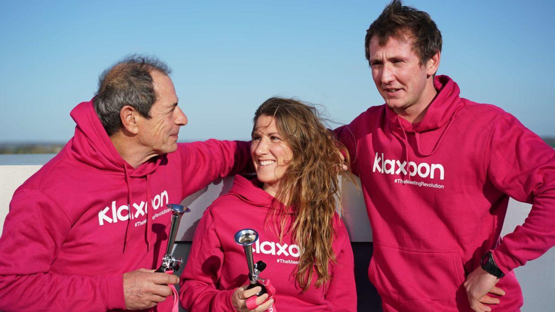 Marc Guillemot, Cassandre Blandin et Matthieu Damerval - Klaxoon Team Voile