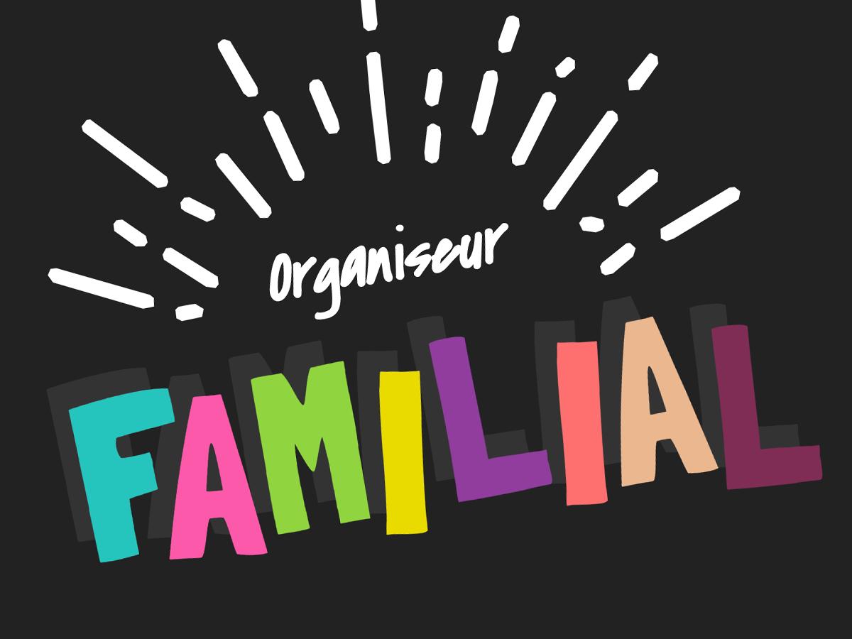 template organiseur familial