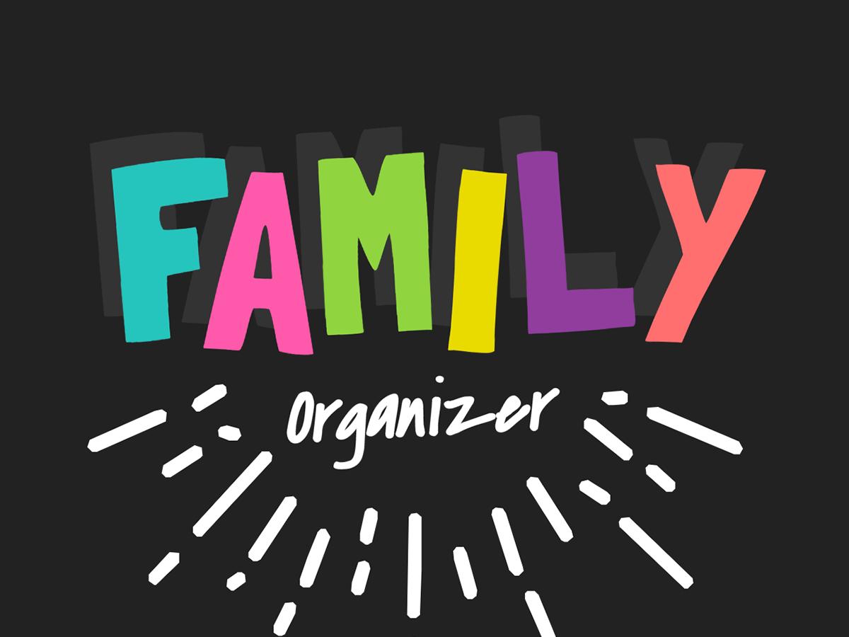 template family organizer