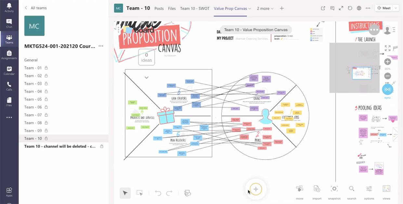 Formation à distance : Microsoft teams et le template Value proposition Canvas | Klaxoon