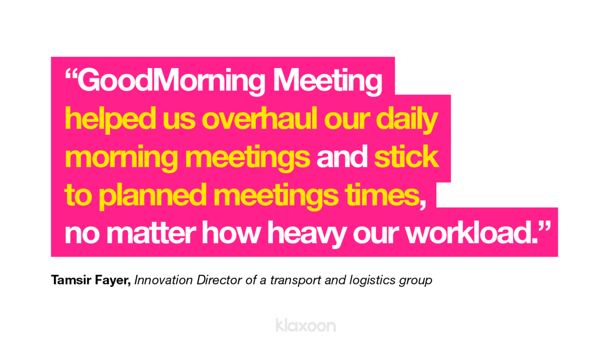 animate your daily meetings as a team with free template   Klaxoon