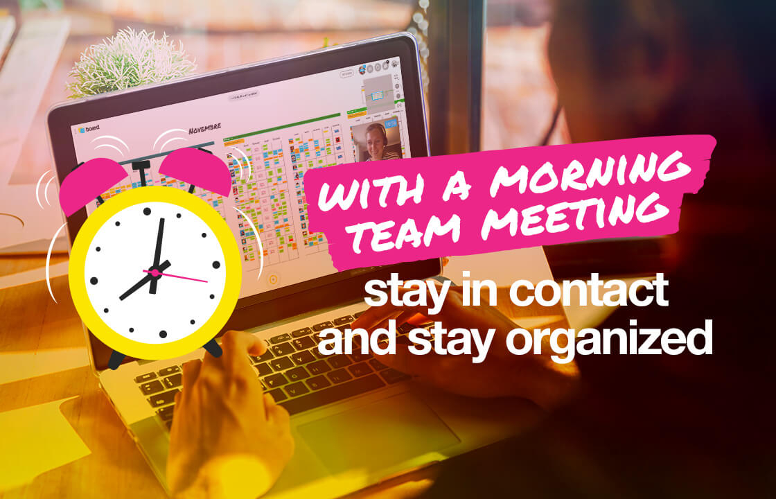 With a morning team meeting case study