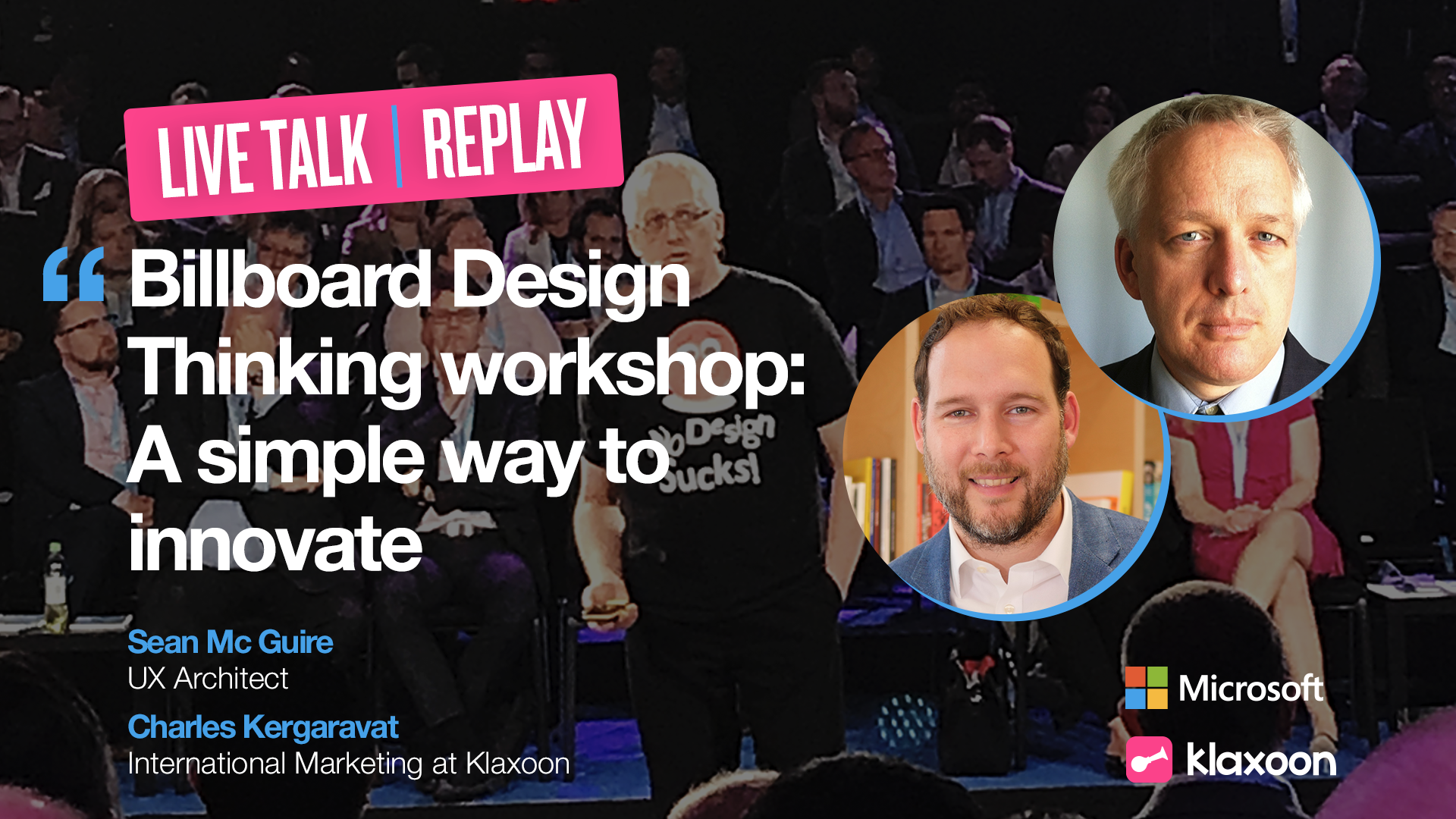 Live Billboard Design Thinking workshop: a simple way to innovate