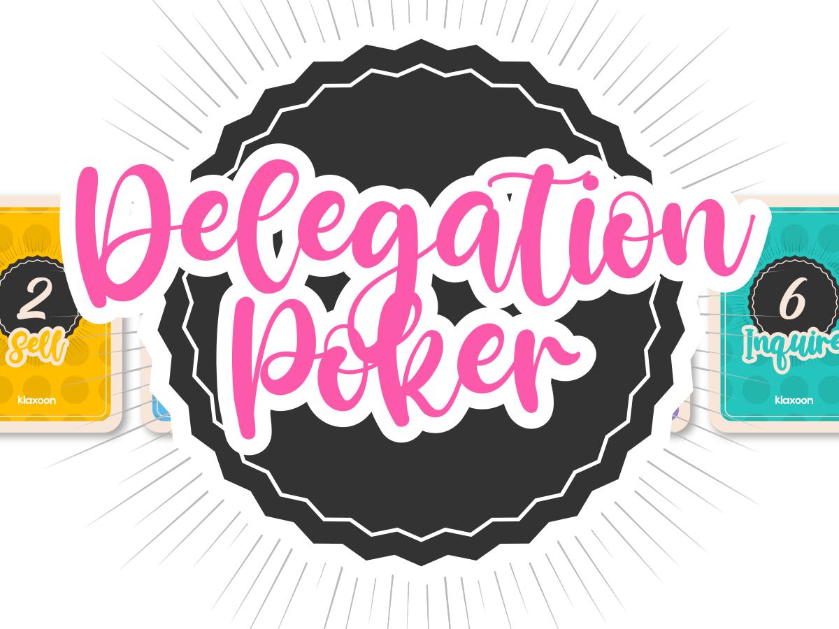Delegation poker template