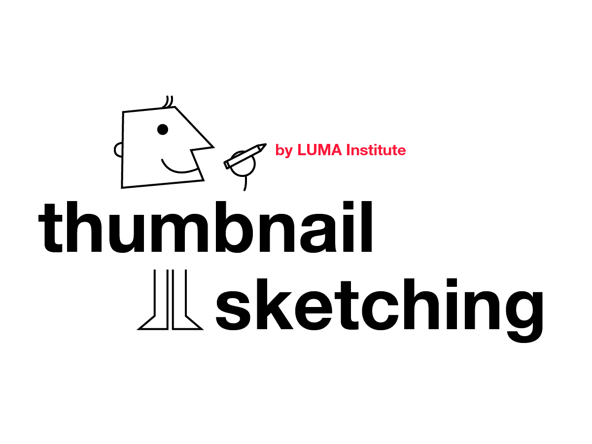 Design thinking by LUMA: Thumbnail sketching method | Klaxoon