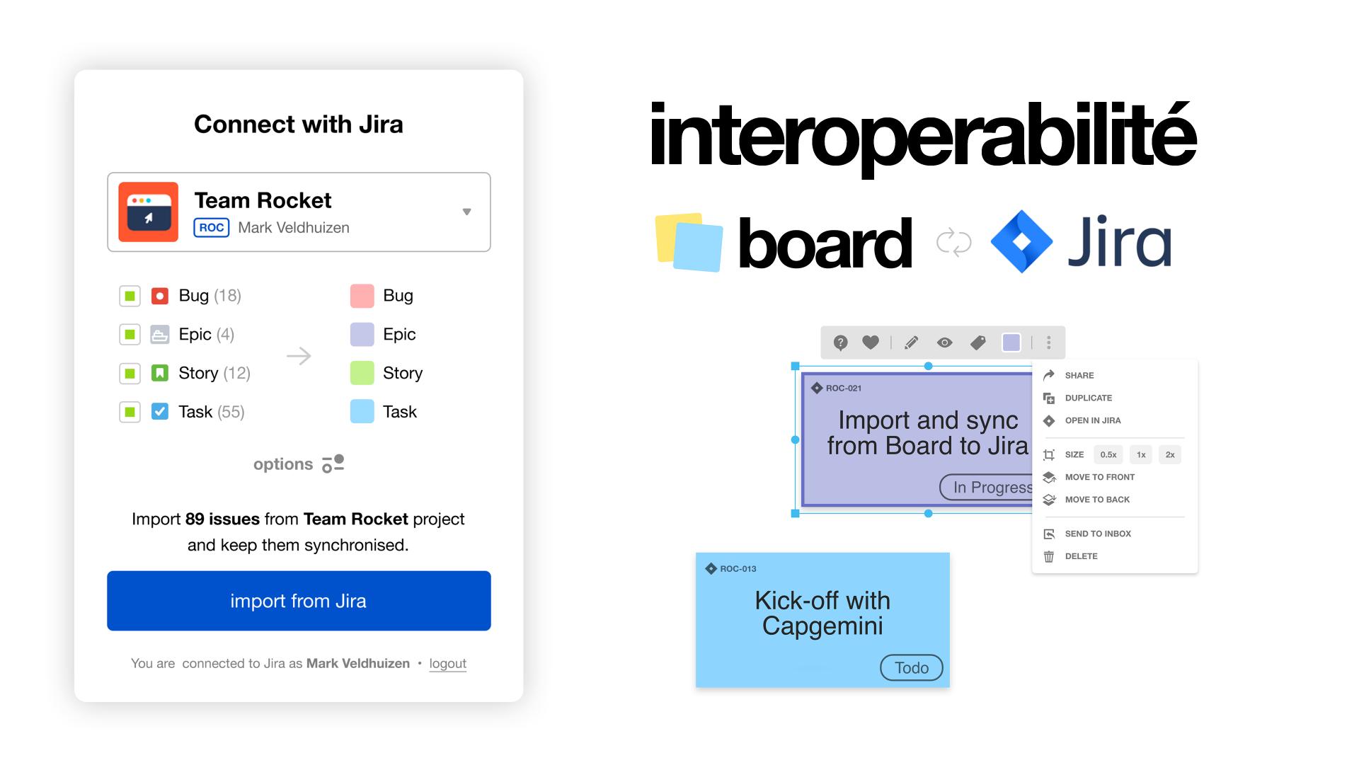 Gestion de projet avec l'outil Jira : interopérabilité avec Board Hybrid   Klaxoon