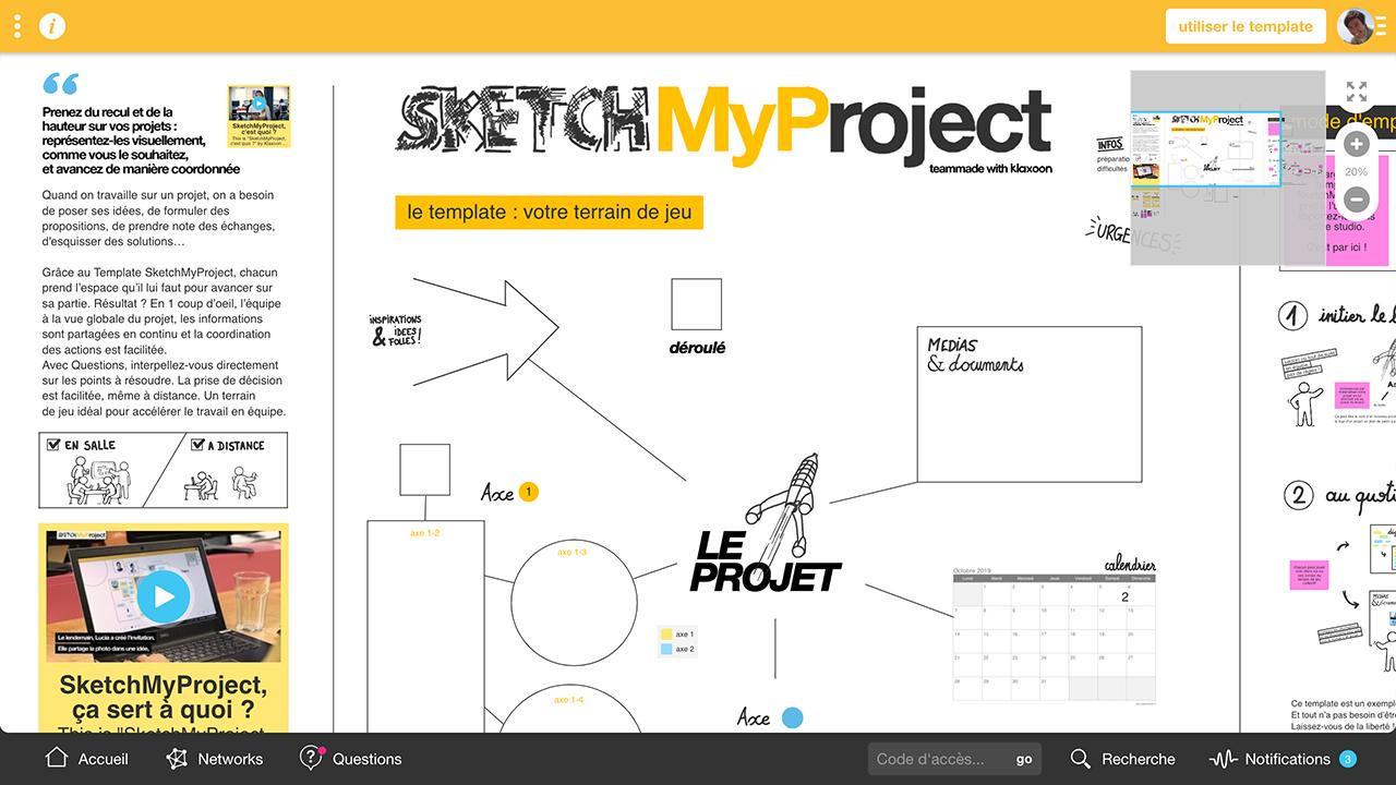 SketchMyProject template |Klaxoon