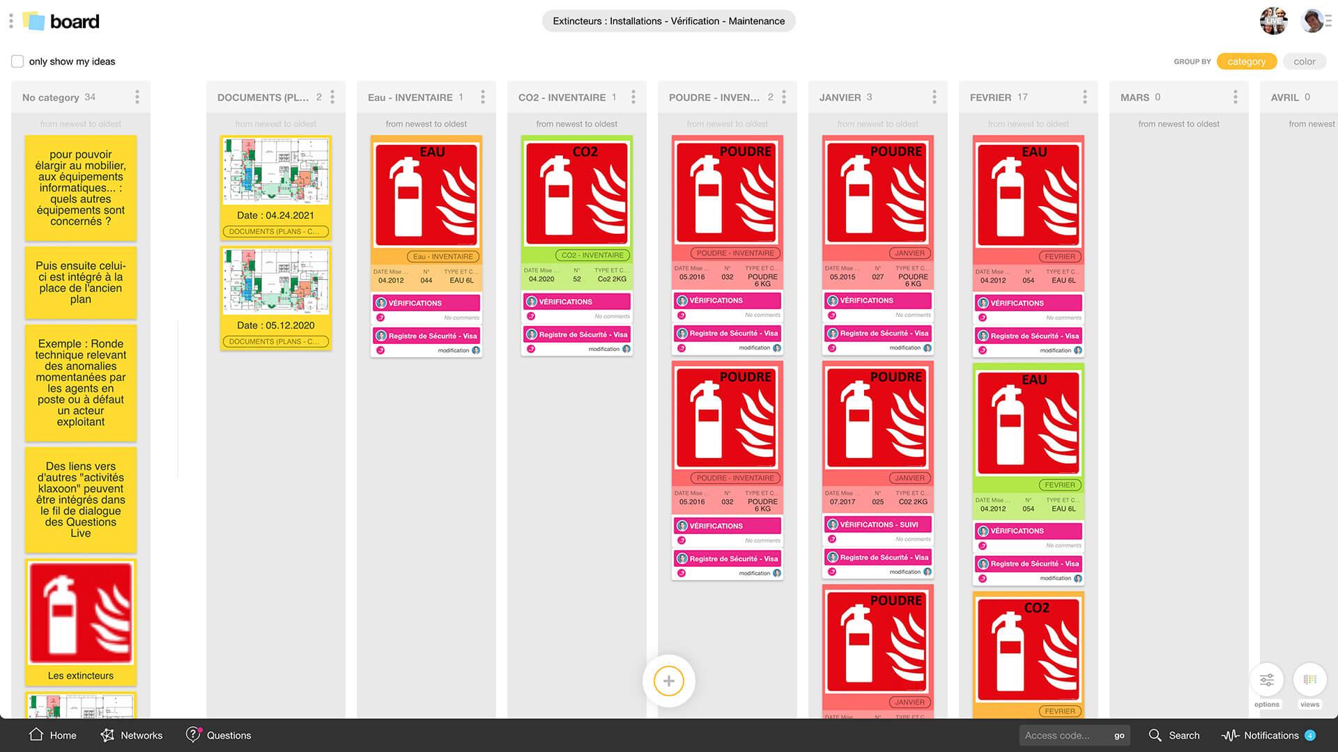 Exemple inventaire et vérification d'équipement |Klaxoon