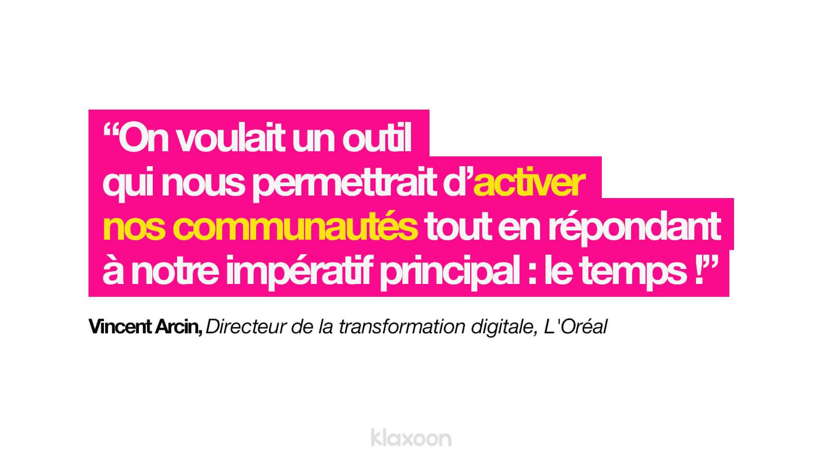 Citation Vincent Arcin  Klaxoon