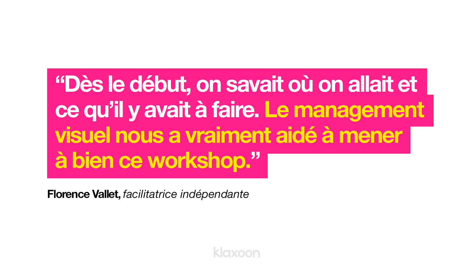 Management visuel et workshop  Klaxoon