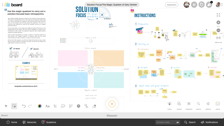 Template Solution Focus  Klaxoon