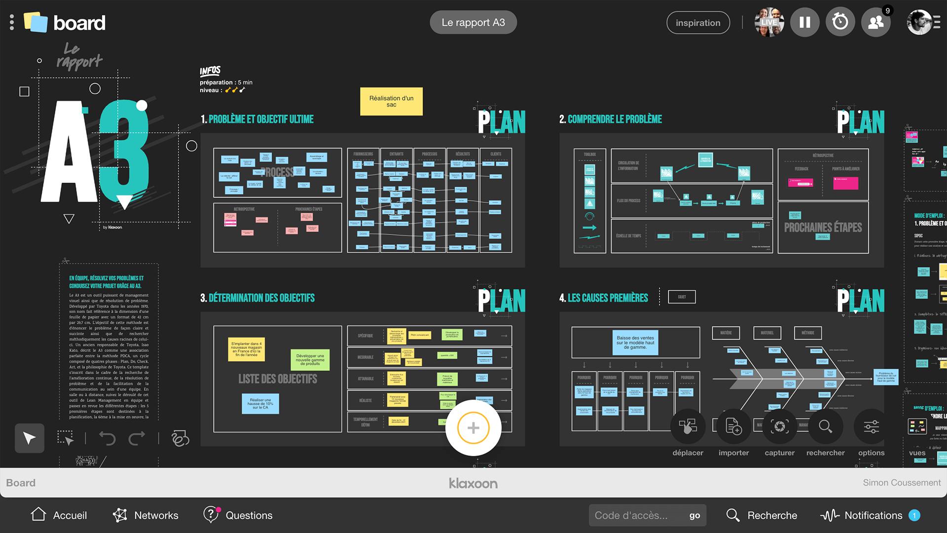 gestion de projet en Lean management : testez le template gratuit Rapport A3 | Klaxoon