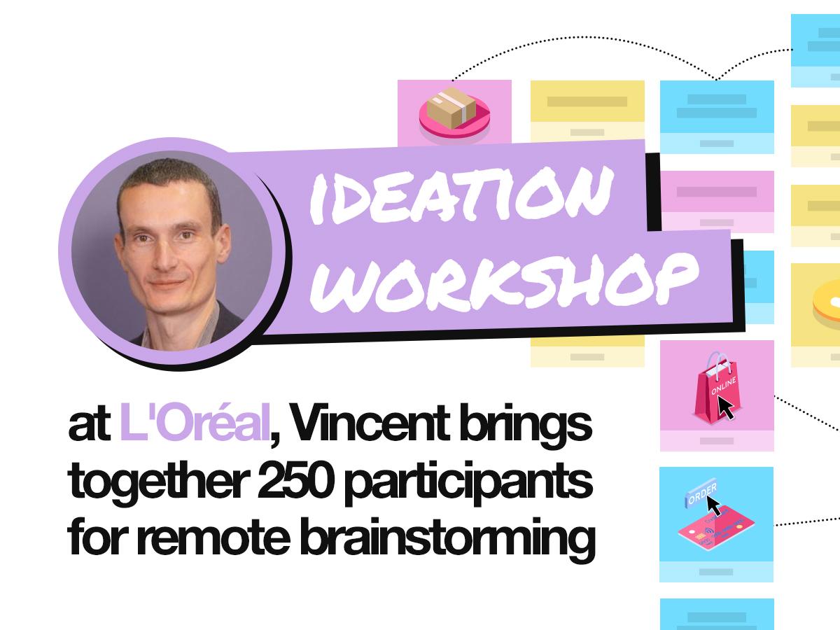 Ideation workshop: 250 participants for remote brainstorming |Klaxoon