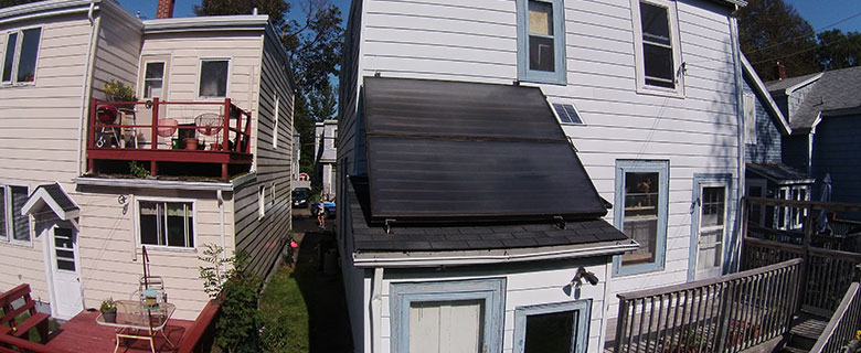 Solar panel on the roof of a home in Halifax.