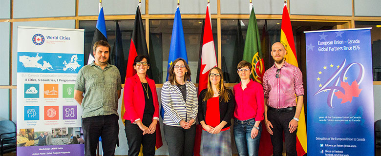 Photo of Shannon with other delegates from the EU-Canada World Cities program in Ottawa, Ontario