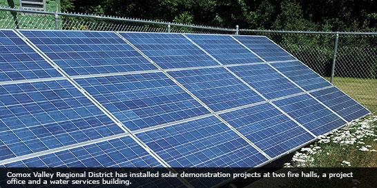 Solar panels in Comox Valley Regional District