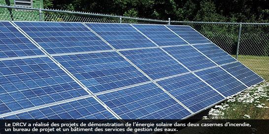 Projet de démonstration solaire du District régional de Comox Valley (C. B.)