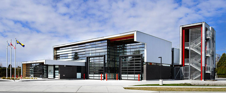 New LEED-certified fire station in Richmond, BC. (Credit: City of Richmond)