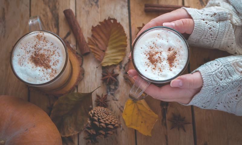pumpkin spiced latte, fall, cup of tea