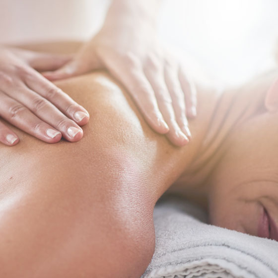 A person being given a massage.