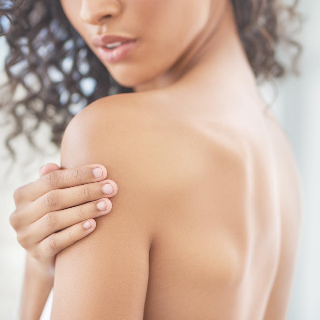 Female's bare back
