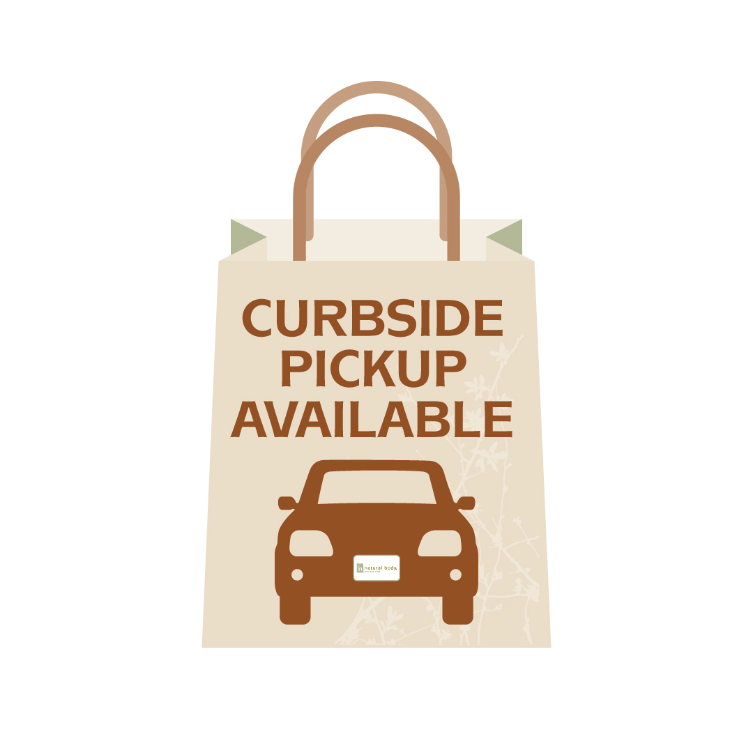 Bag with Curbside Pickup Available and car on it