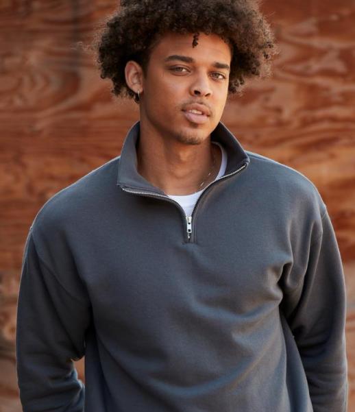 Nublend® Cadet Collar Quarter-Zip Sweatshirt