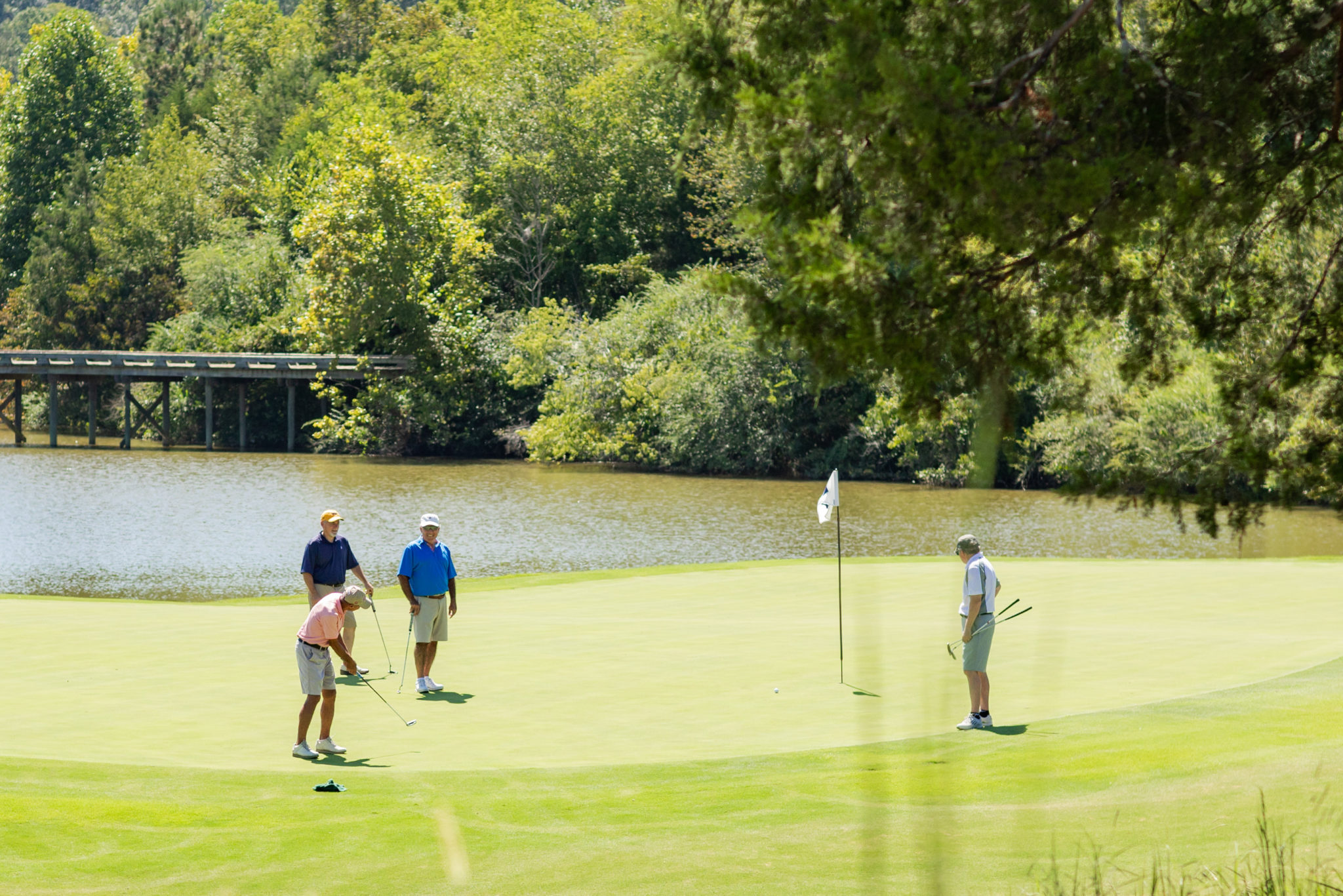 4 Men golfing at Tennessee National