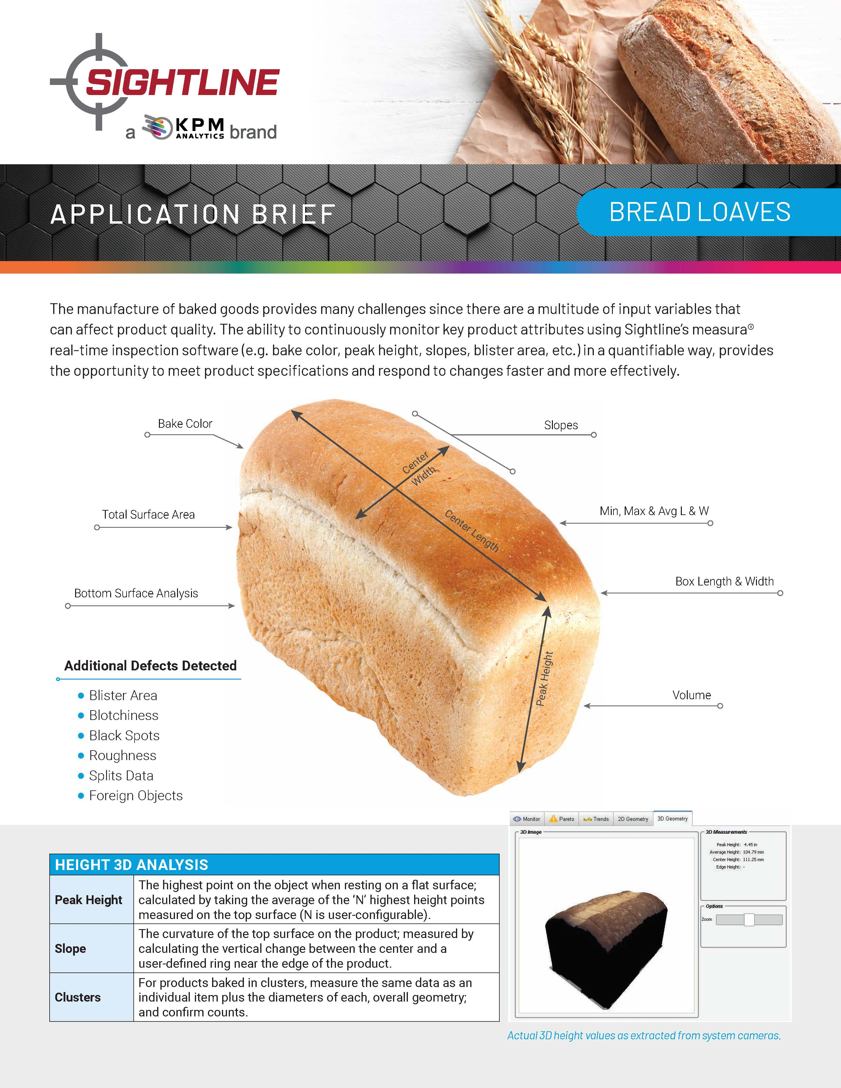 Vision Inspection of Bread