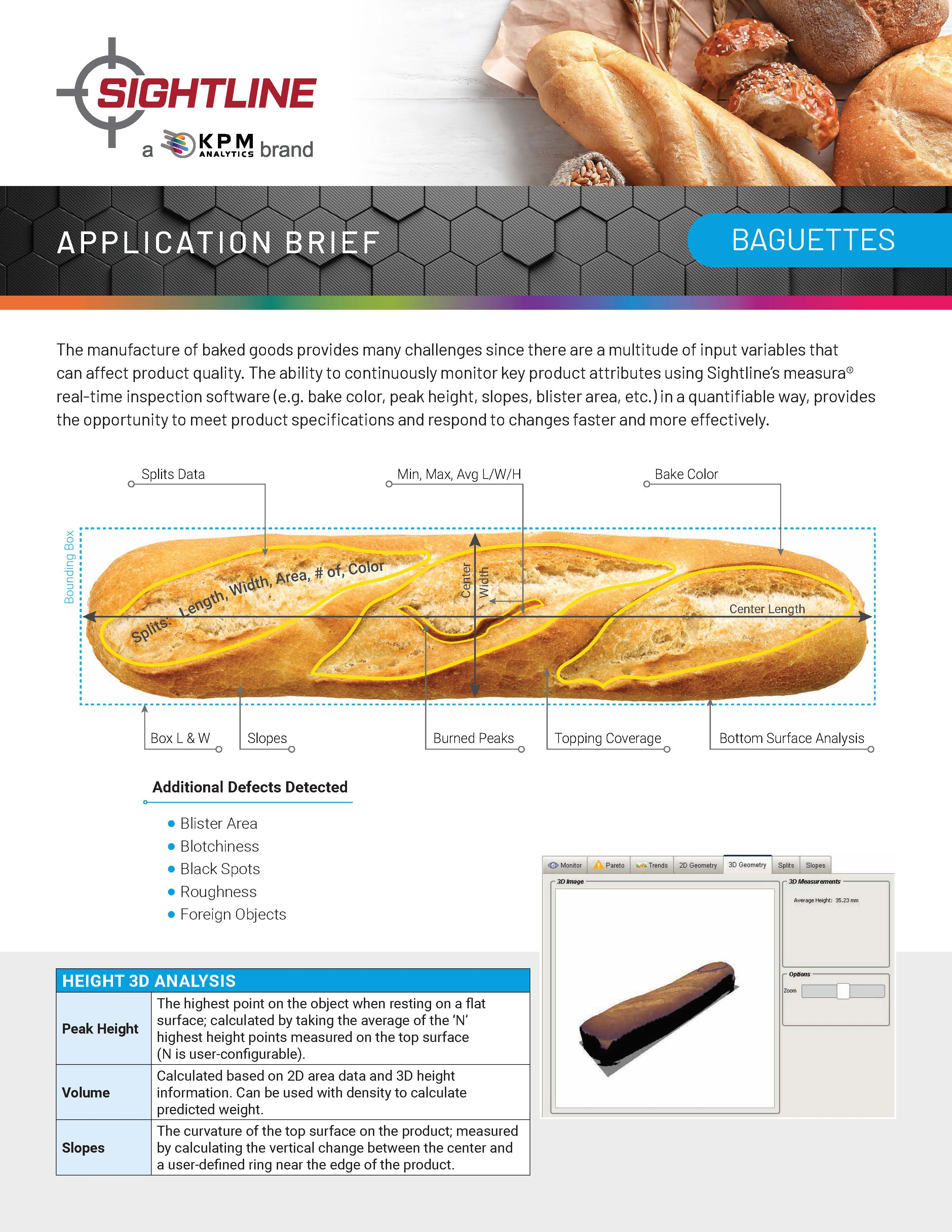 Vision Inspection of Baguettes