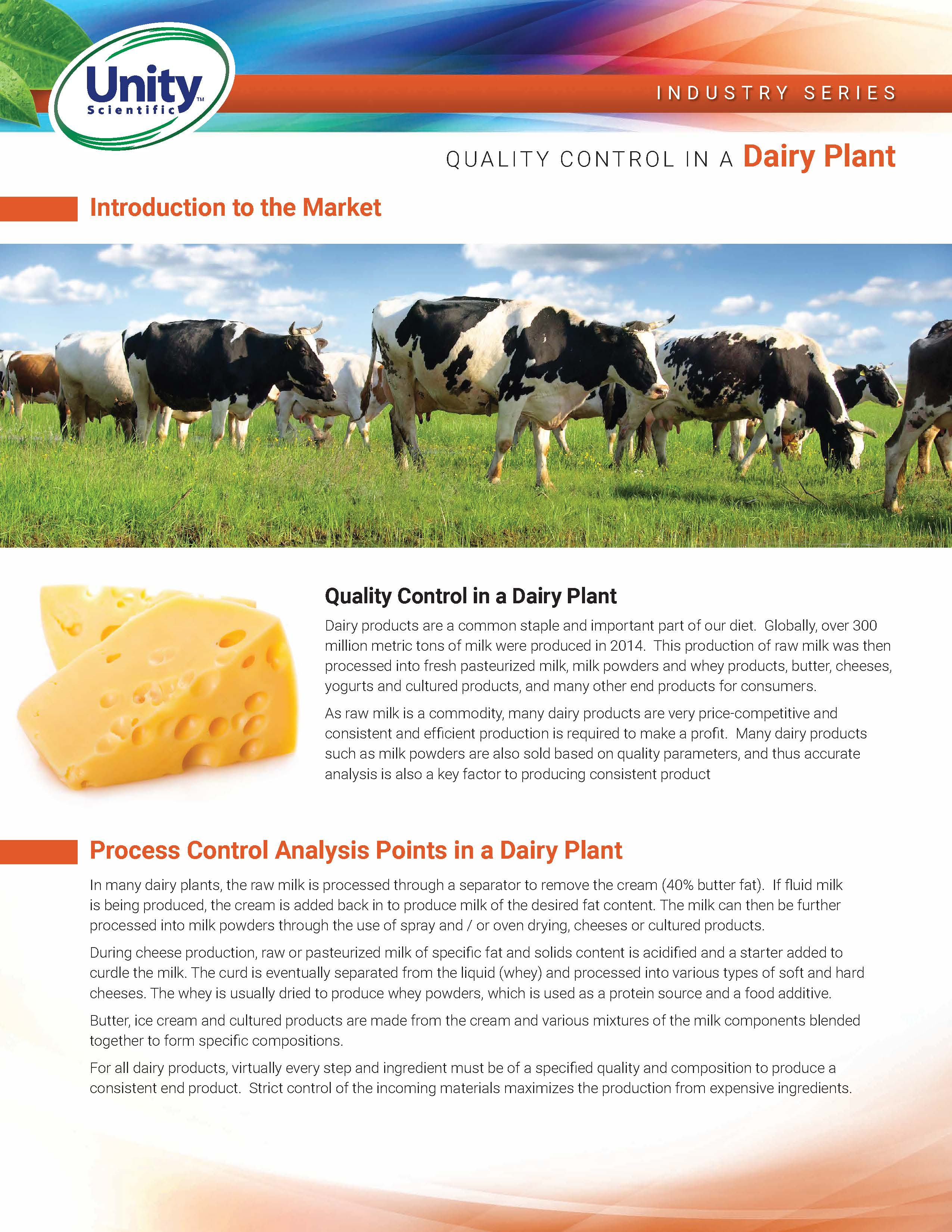 Industry Series - Quality Control In A Dairy Plant
