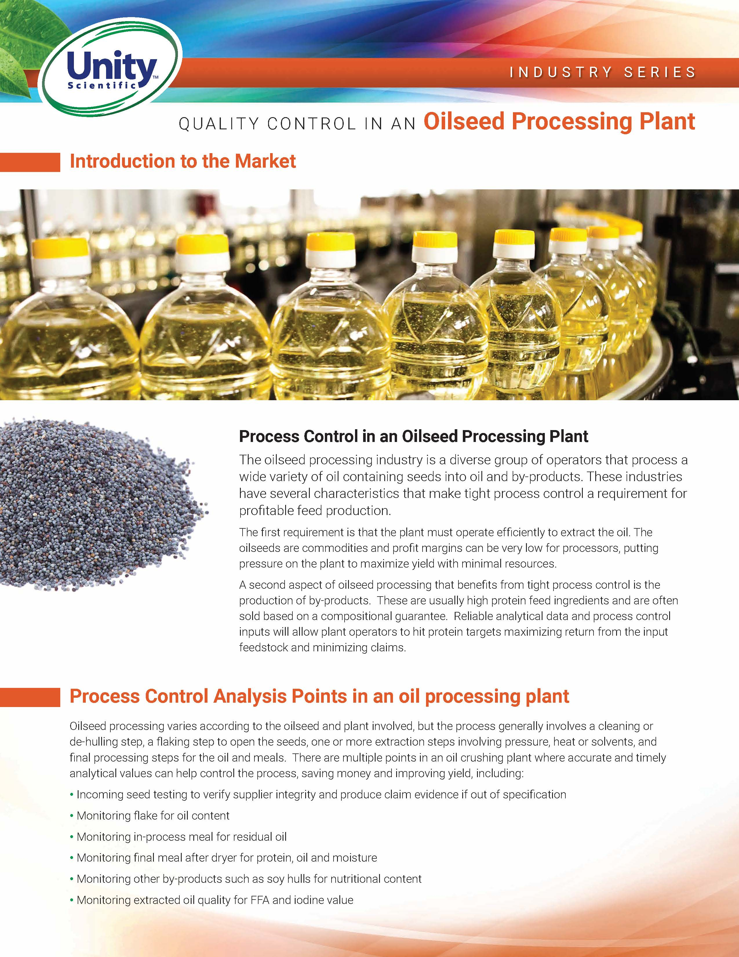 Industry Series - Quality Control In An Oilseed Processing Plant