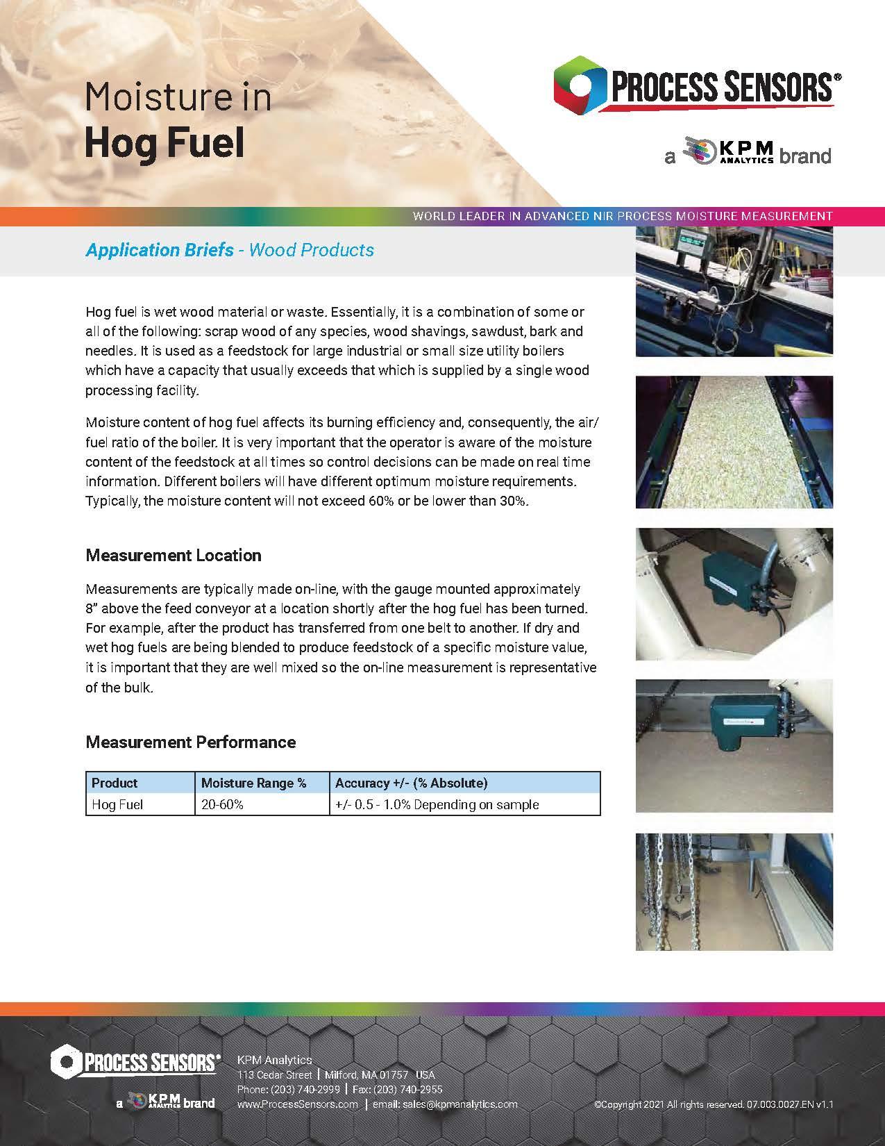Moisture in Hog Fuel