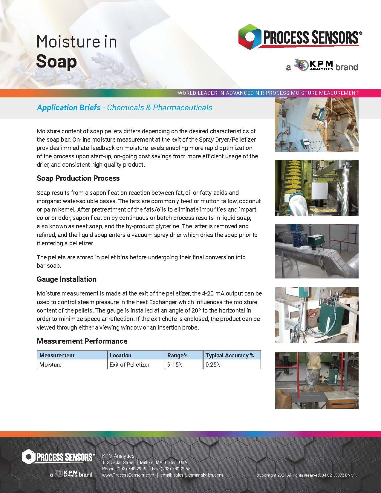 Moisture in Soap