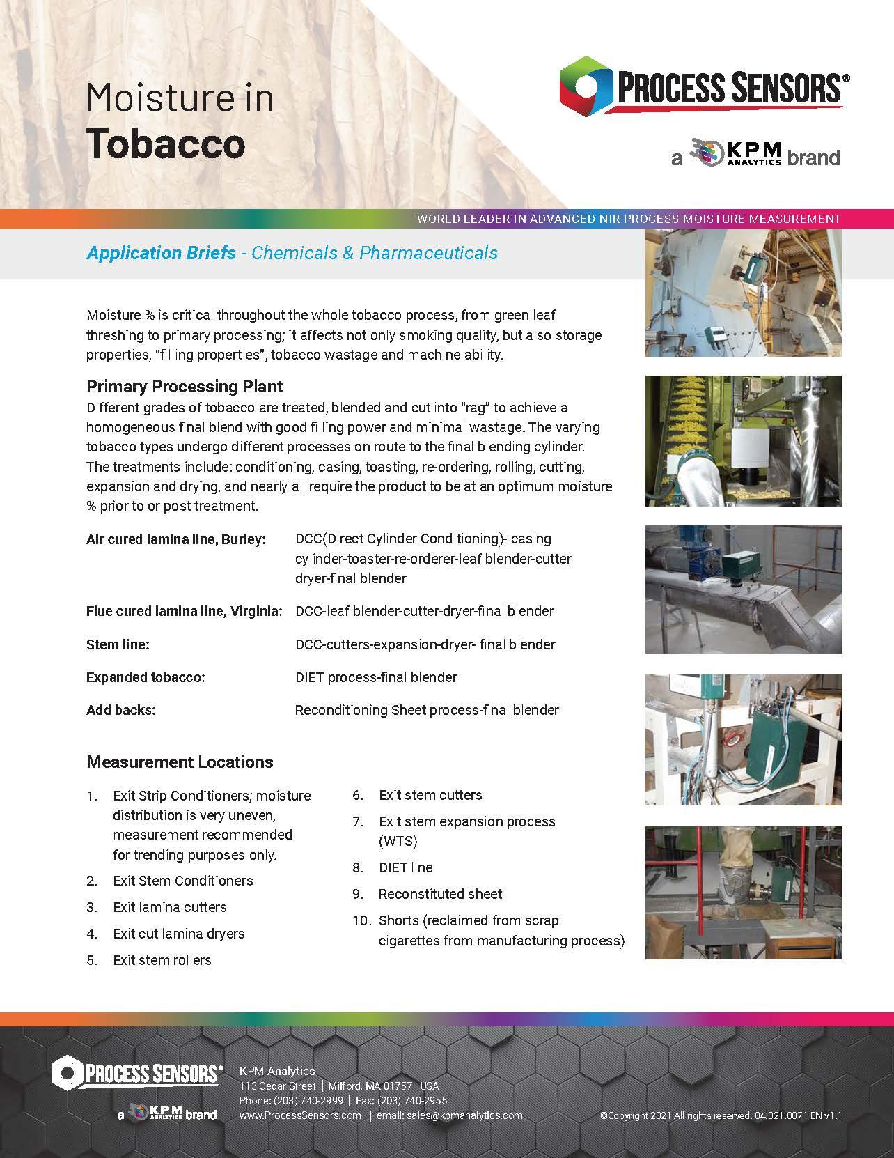 Moisture in Tobacco