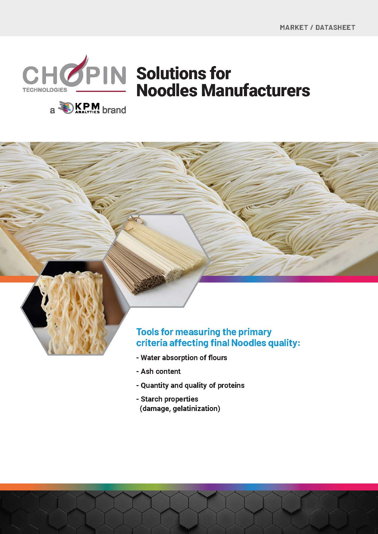 Solutions for Noodle Manufacturers