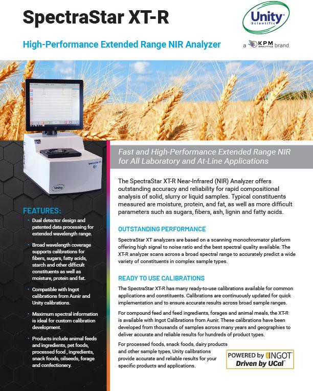 SpectraStar XT-R Extended Range NIR Analyzer