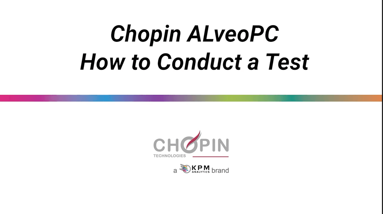 CHOPIN AlveoPC - How to Conduct a Test