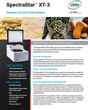 SpectraStar XT-3 Moisture Oil and Protein Analyzer