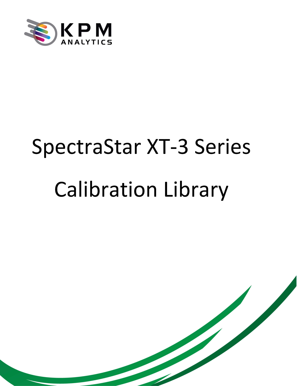 SpectraStar XT-3 Series Calibrations