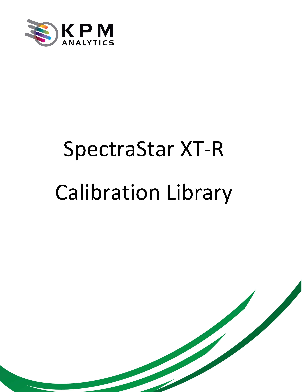 SpectraStar XT-R Calibrations