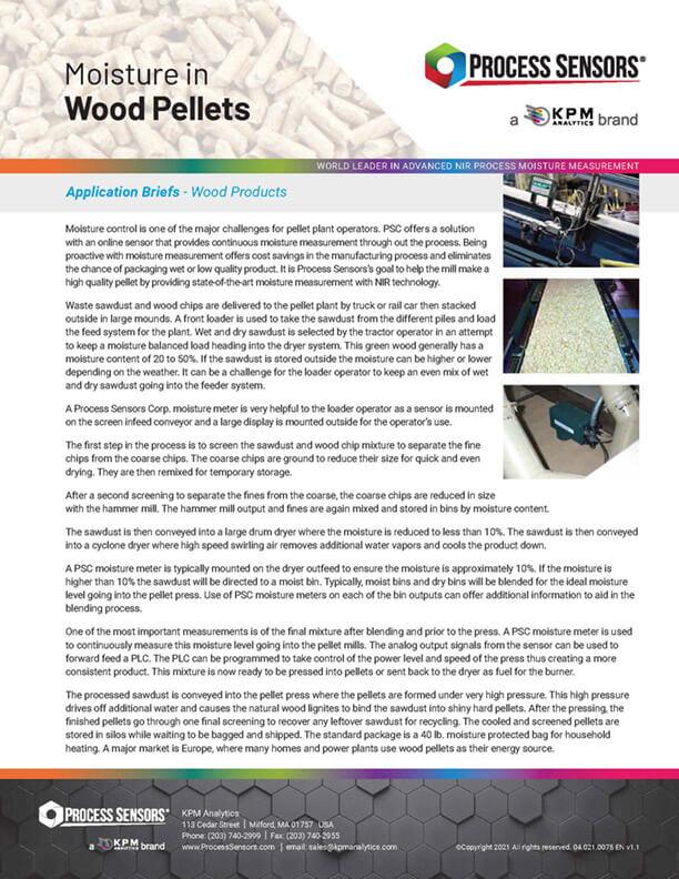 Moisture in Wood Pellets