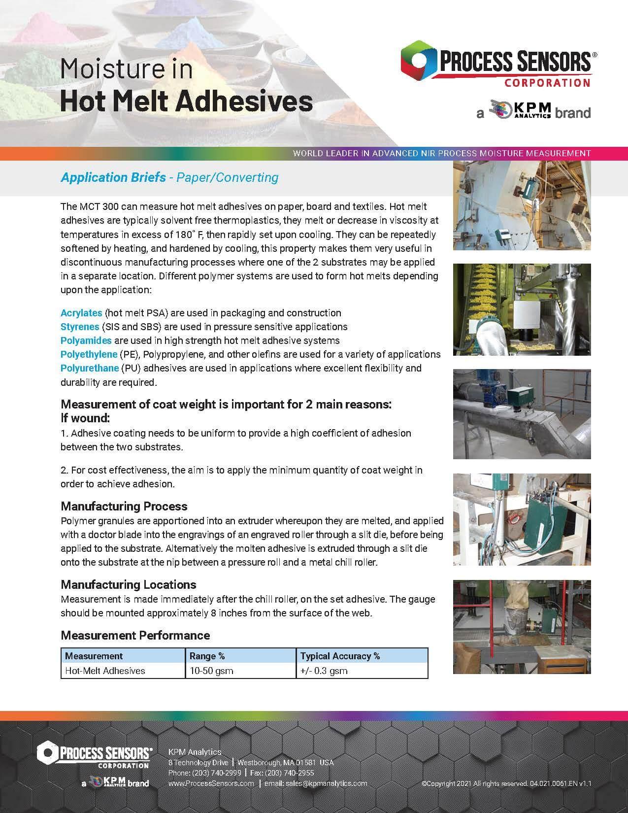 Moisture in Hot Melt Adhesives