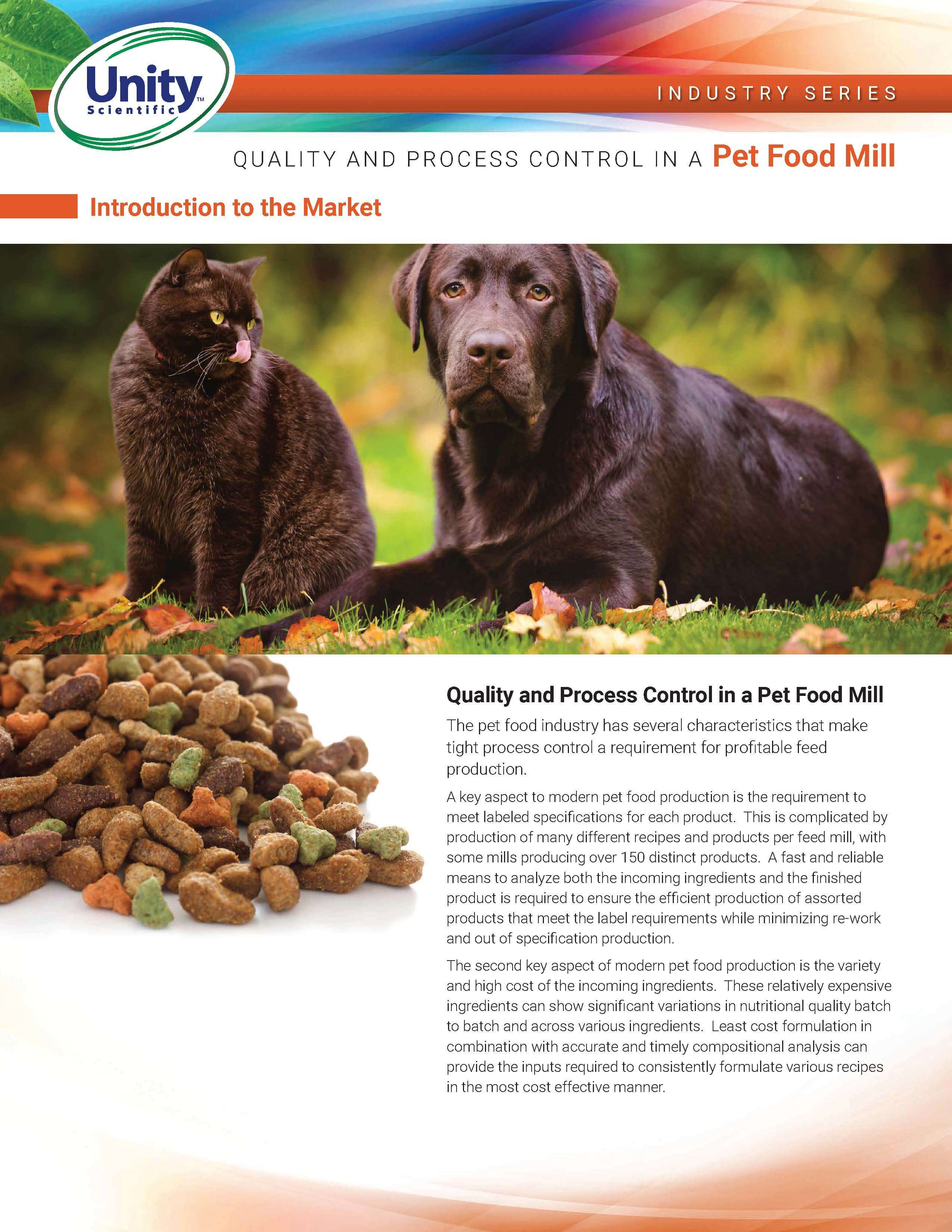 Industry Series - Quality And Process Control In A Pet Food Mill