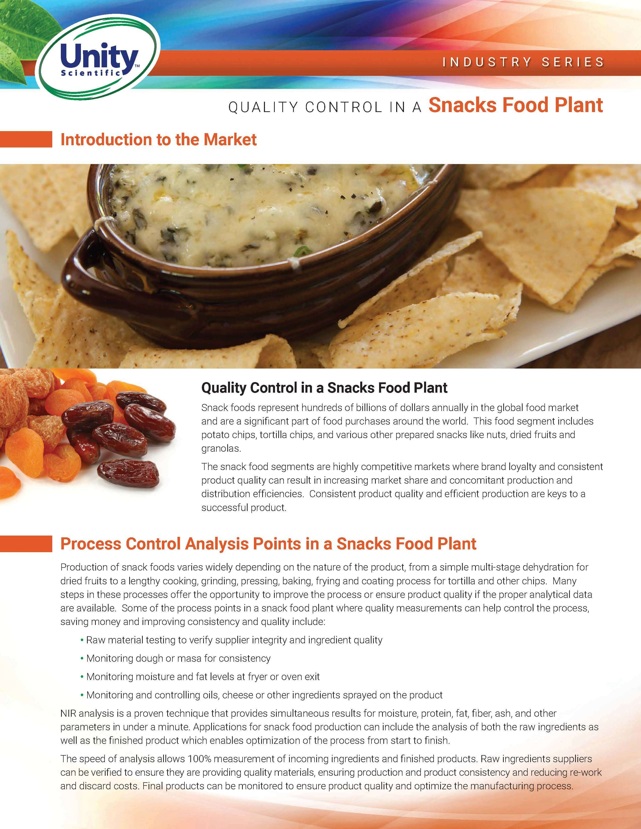 Industry Series - Quality Control In A Snacks Food Plant