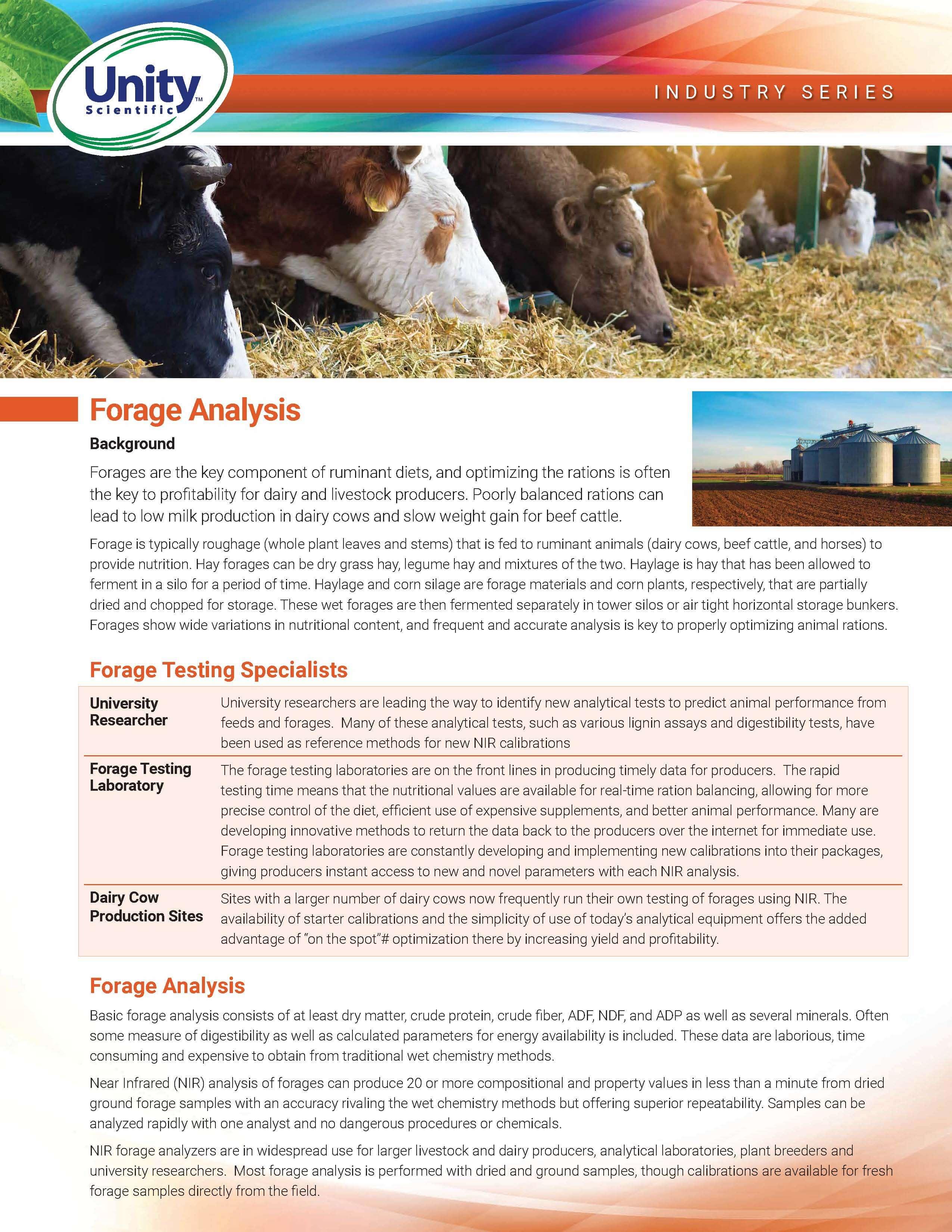 Industry Series - Forage Analysis